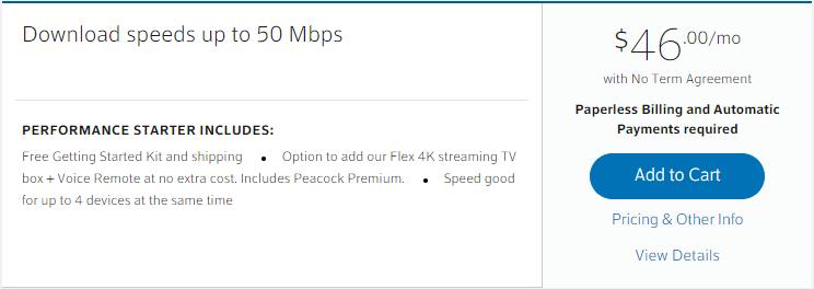 Comcast Performance Starter