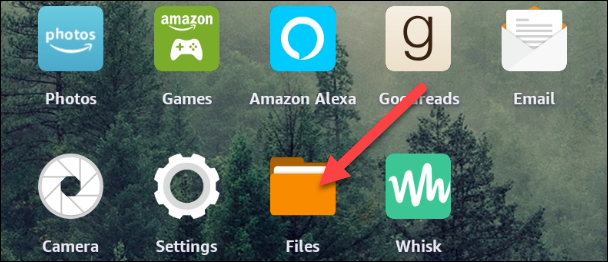 """Open the """"Files"""" app from the home screen."""