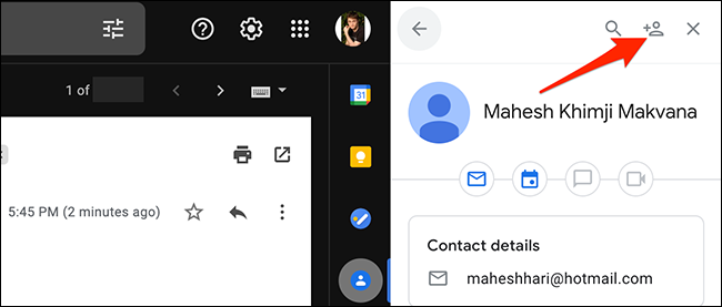 """Select """"Add to Contacts"""" in Gmail."""