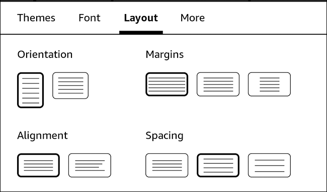 Choose your preferred layout options
