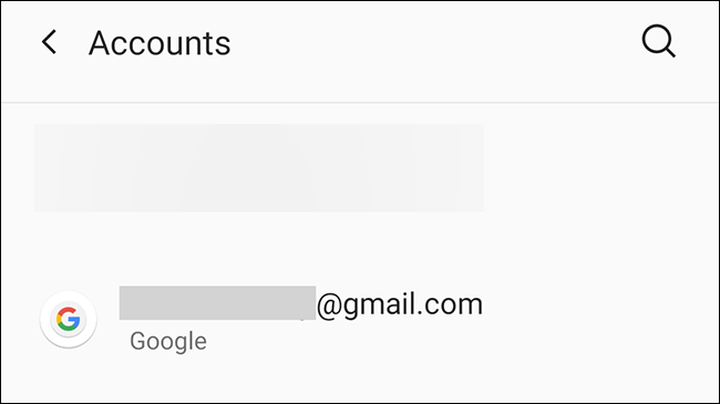 Choose the Google account in Android.