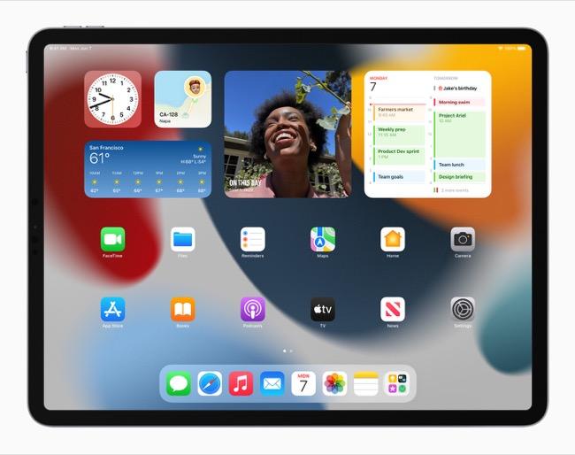 iPad Pro with iPadOS 15