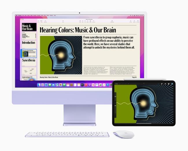 iMac running macOS Monterey