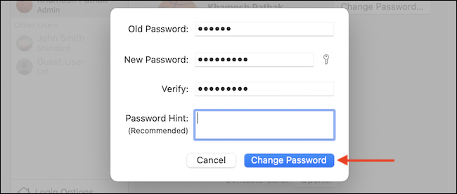 """Enter the old password, confirm the new password, and click """"Change Password"""" to update the password."""
