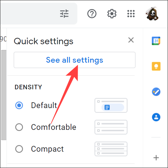 """Click the """"See All Settings"""" button."""