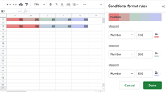 How to Apply a Color Scale Based on Values in Google Sheets