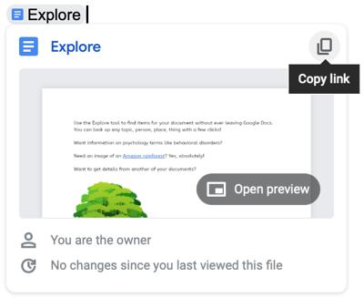 Нажмите Копировать ссылку в Smart Chip для файла