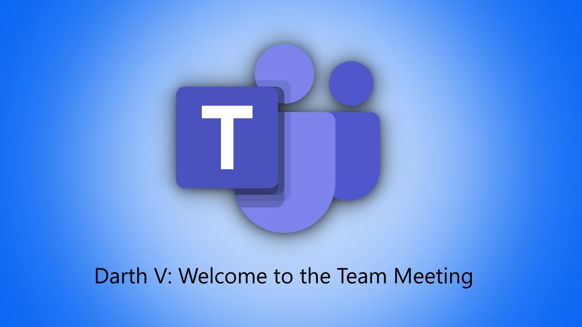 Microsoft Teams logo with a sample live caption