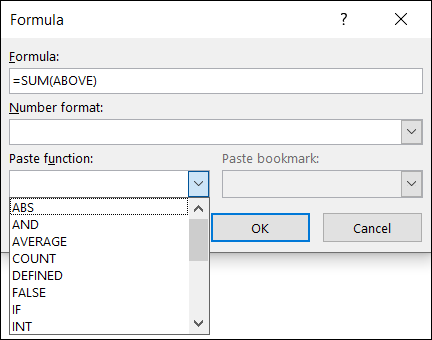 Paste a function
