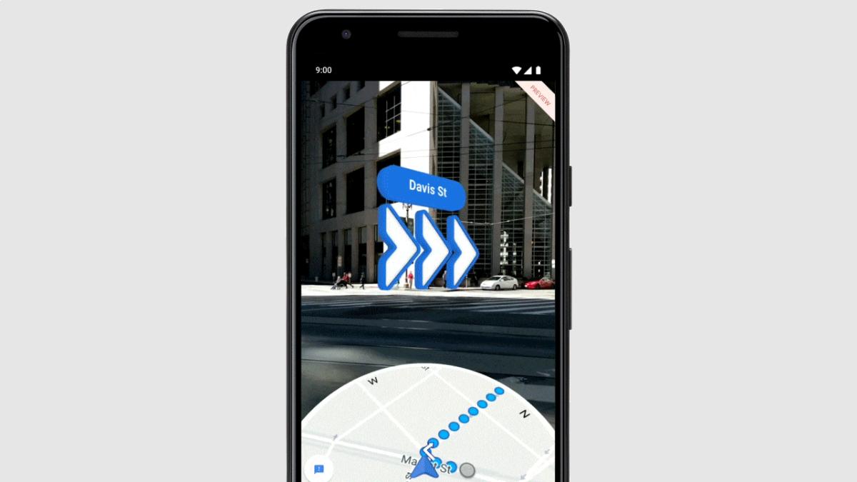 Google Maps AR walking directions.