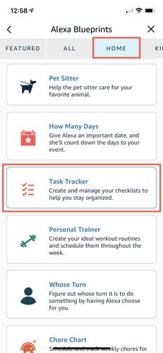 Task Tracker on the Blueprints Home tab