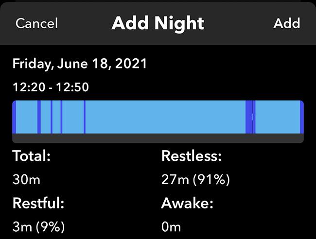Add a night in Sleep++