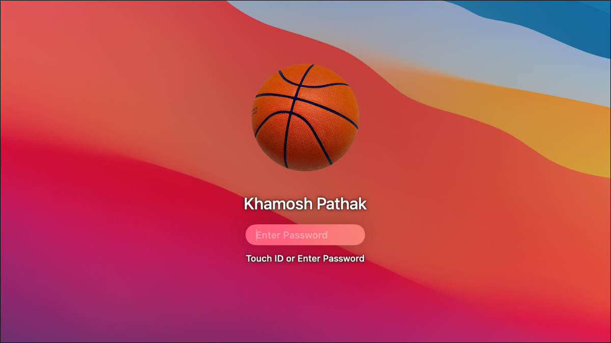 Mac user entering the login password after changing it.