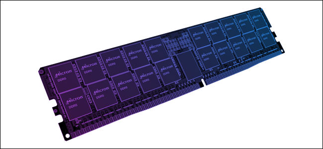 An Illustration of DDR5 a RAM stick in black and dark purple.