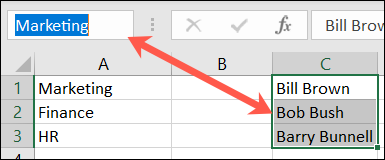Назовите группу ячеек в Excel