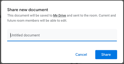 Name the document and click Share