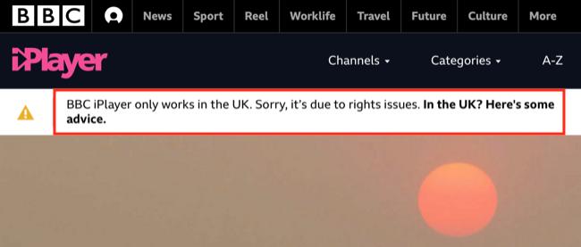 BBC iPlayer Error
