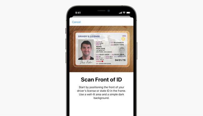 Apple Wallet Scan ID