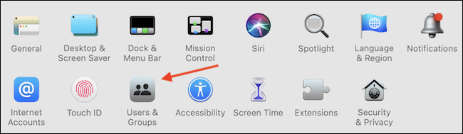 """Go to """"Users & Groups"""" section in System Preferences."""