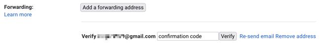 Entrez le code de confirmation et cliquez sur Vérifier