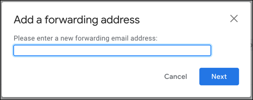 Entrez l'adresse e-mail et cliquez sur Suivant