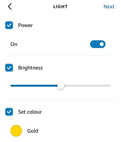 Smart light features