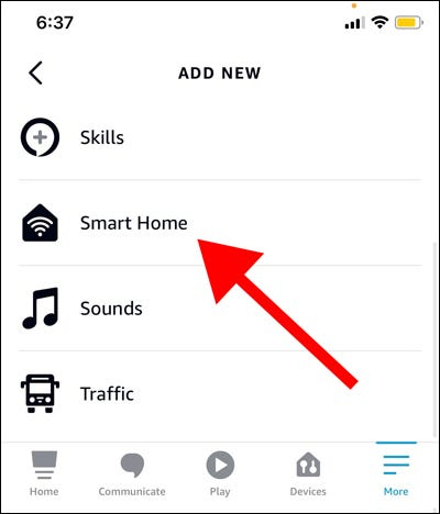 Tap Add Action, select Smart Home