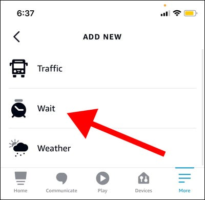 Tap Add Action, select Wait