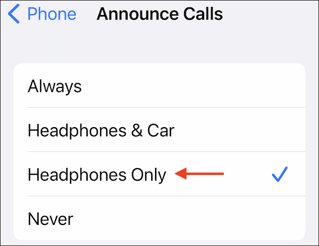 """Switch to the """"Headphones Only"""" option."""