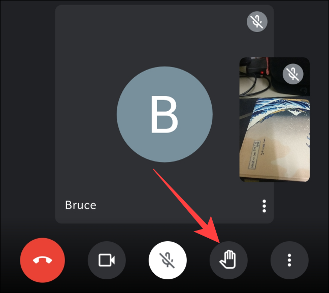 """During an ongoing meeting on iPhone or Android, tap on the """"Raise hand"""" button at the bottom of the screen."""