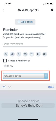 Choose a device