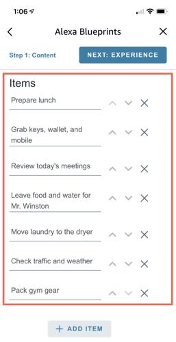 Add your checklist items