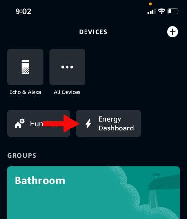 """Кран """"Панель управления энергией"""" в приложении Alexa"""