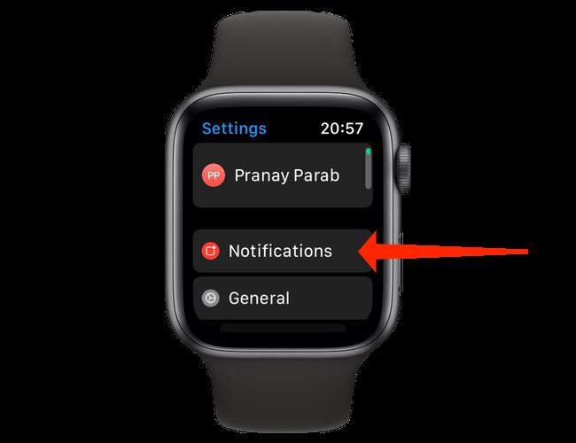 """Under Apple Watch settings, open """"Notifications."""""""