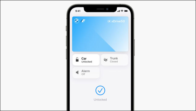 Apple Wallet with BMW key