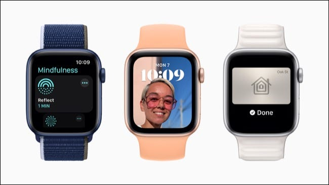 Apple Watch Series 6 with watchOS 8