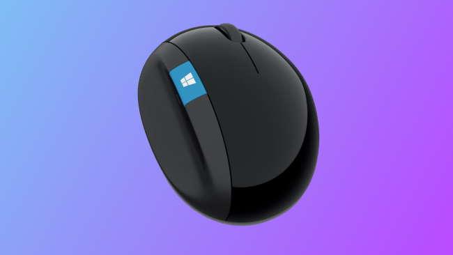 microsoft sculpt mouse on blue-purple background