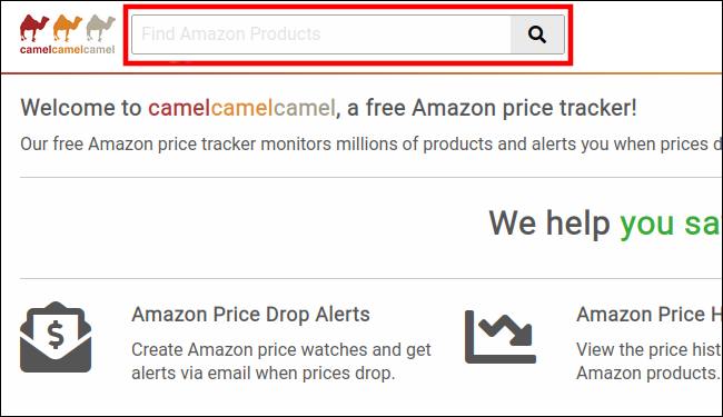 Paste an Amazon URL into Camelcamelcamel's search bar