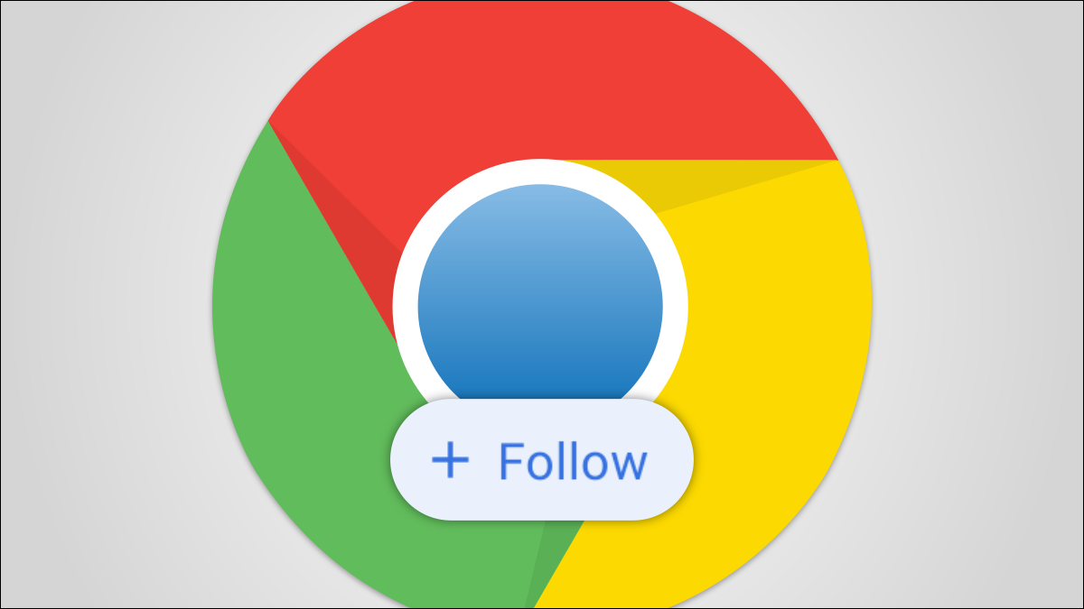 Логотип Google Chrome с кнопкой Follow.