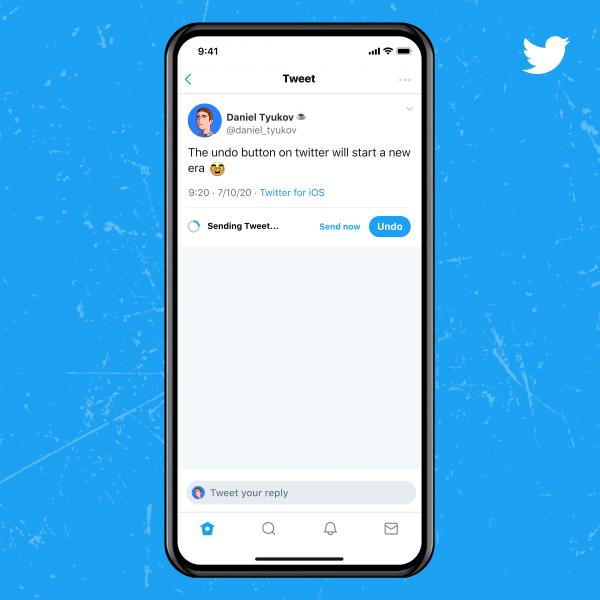Twitter Blue undo button.