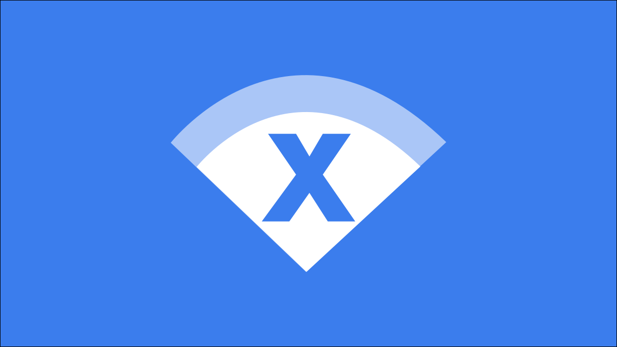 Wi-Fi symbol with X