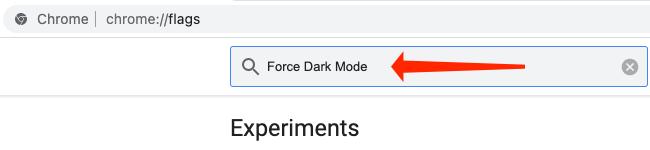 Щелкните поле поиска вверху страницы флажков Chrome и выполните поиск