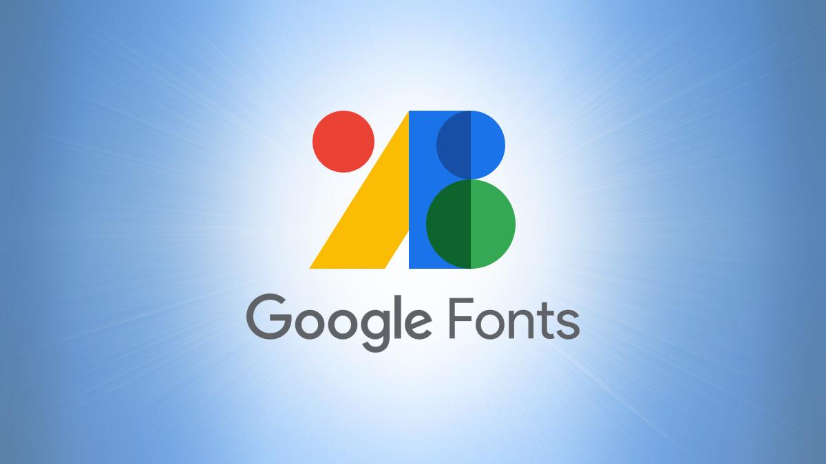Google Fonts Logo on Blue Background