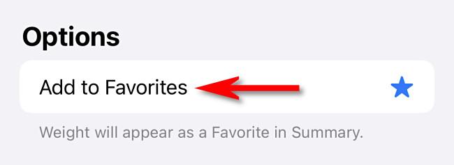 "Tap ""Add to Favorites."""