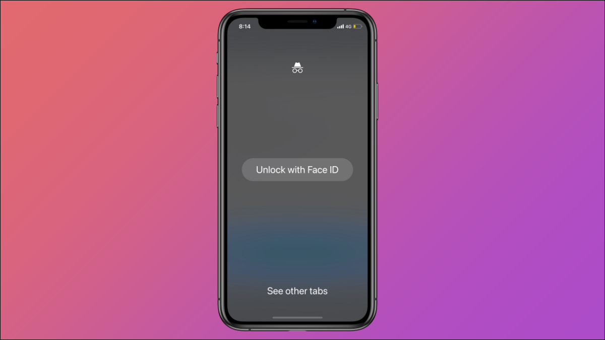 iPhone With Face ID-Locked Incognito tab