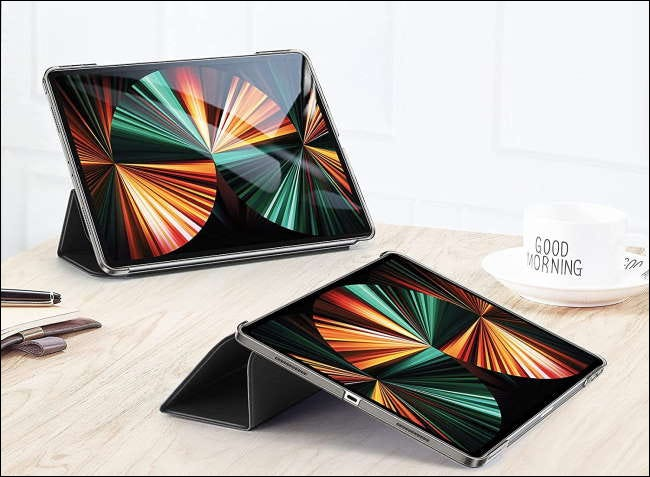 Two iPad Pros in ESR cases on table