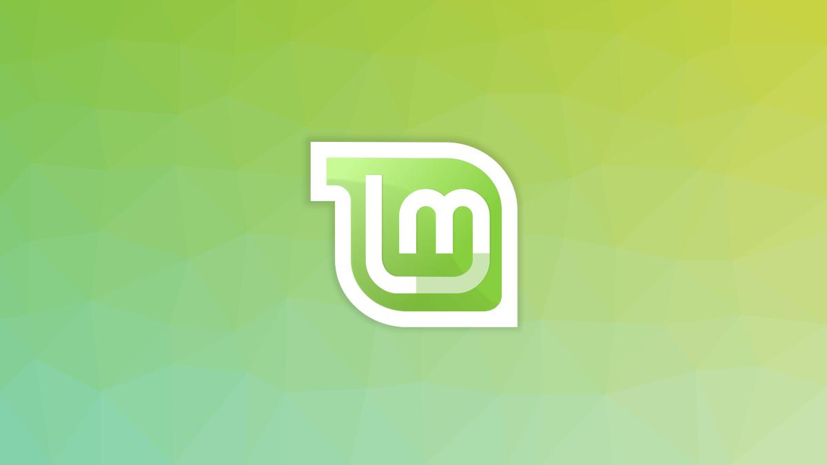 Linux Mint logo on a green backdrop