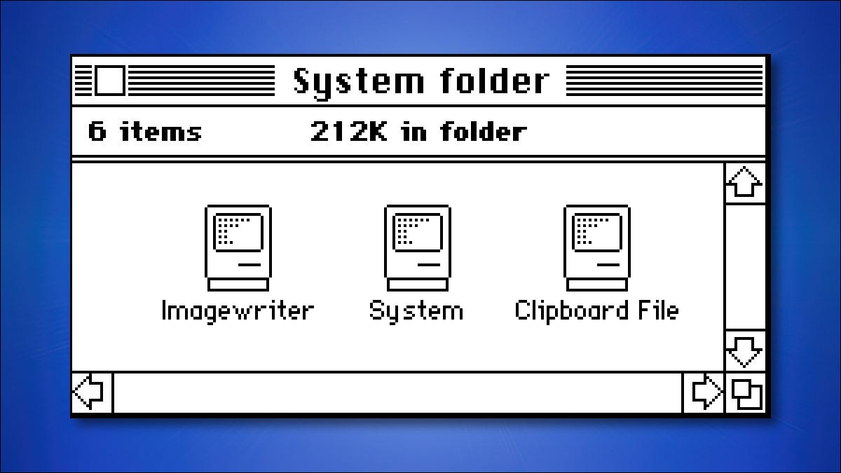 The System Folder from Mac System 1.0 in 1984