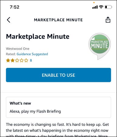 marketplace minute screen