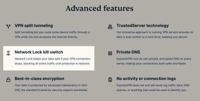 ExpressVPN Advanced Featured